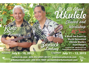 It's All About Ukulele – Concert and Workshop Tour by Hawaiian Masters Kimo Hussey and Zanuck Lindsey