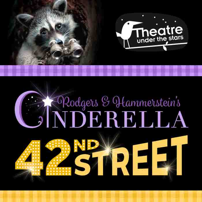 Theatre Under the Stars presents Rodgers & Hammerstein's Cinderella and 42nd Street : July 4 – August 18, 2018