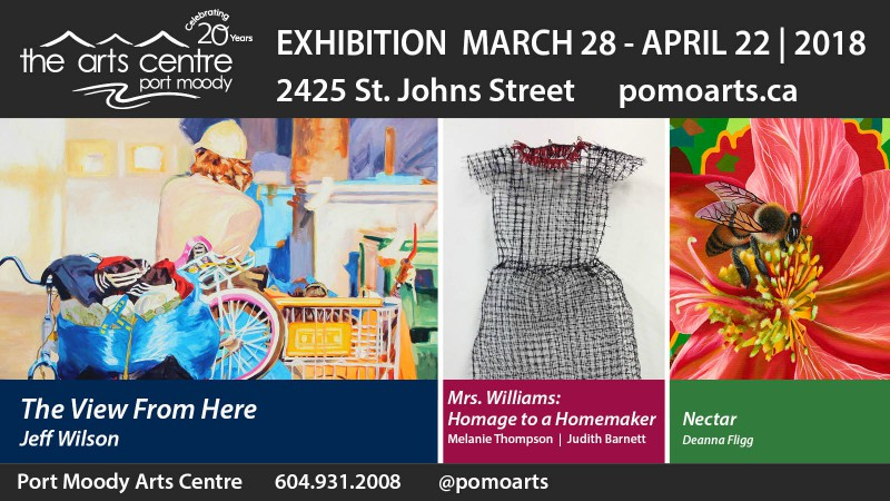 March-April Gallery Exhibitions: The View from Here / Nectar / Mrs. Williams: Homage to a Homemaker